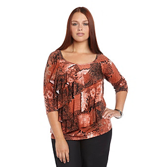 AGB® Plus Size Tiered Top
