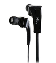 iHip® Black Noise Isolating Eclipse Earphones with Multiple Size Eartips