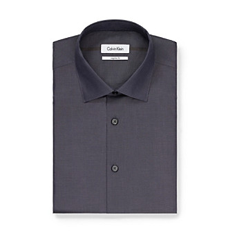 Calvin Klein Men's Carbon Regular-Fit Dress Shirt