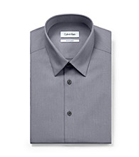 Calvin Klein Men's Basic Check Slim-Fit Dress Shirt