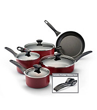 Farberware® 12-pc. Red Dishwasher Safe Cookware Set