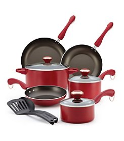Paula Deen® Dishwasher Safe 11-pc. Red Cookware Set + $30 Cash Back by Mail see offer details