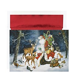 Masterpiece Winter Santa Scene Box of 18 Cards