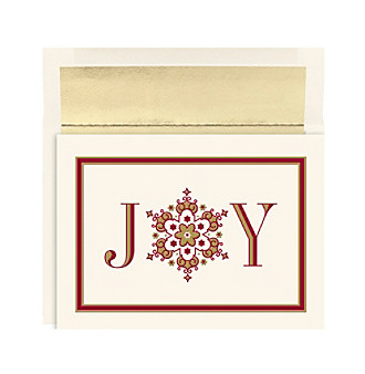 Masterpiece Joy Snowflake Christmas Cards