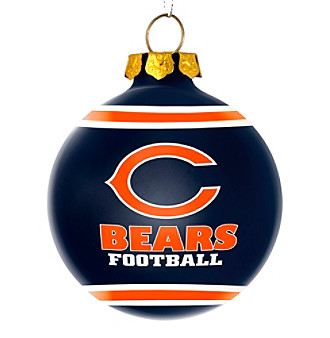 Forever Collectibles® Chiacago Bears Glass Ball Ornament