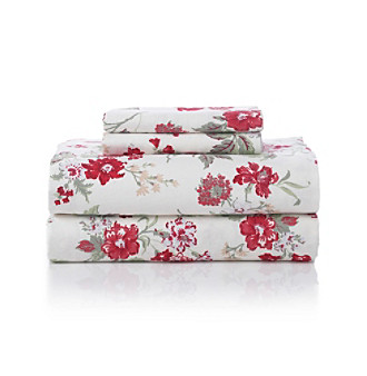 LivingQuarters Heavy-Weight Tossed Floral Flannel Sheet Sets