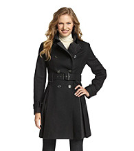 Laundry Double Breasted Pleated Walker Coat