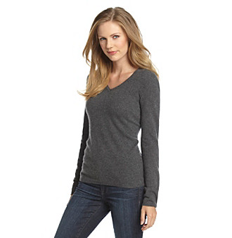 Vertical Design® Cashmere V-Neck Sweater