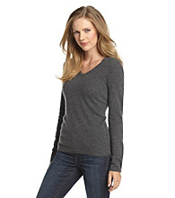 Vertical Design® Cashmere V-Neck Sweater
