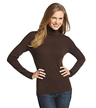 Vertical Design™ Cashmere Turtleneck Sweater