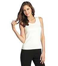 Rafaella® Sleeveless Scoopneck Shell