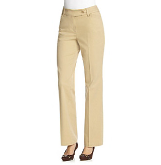 Jones New York Sport® Straight Leg Twill Pants
