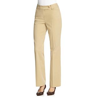 Jones New York Sport® Straight Leg Twill Pants