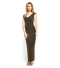 Alex Evenings® Full-Length Ribbed Column Dress