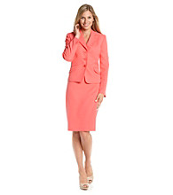 Evan-Picone® Plus Size Ruffled Skirt Suit