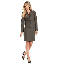 Le Suit® Plus Size Notch-Collar Skirt Suit