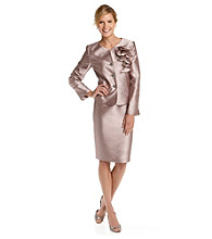 Kasper® Crinkle Satin Skirt Suit