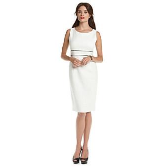 Kasper® Tweed Piped Sheath Dress