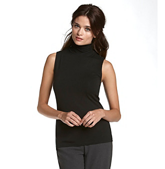 Kasper® Plus Size Jersey Mock Turtleneck