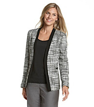 Kasper® Tweed Open-Front Jacket