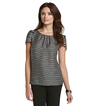 Nine West® Silky Striped Top