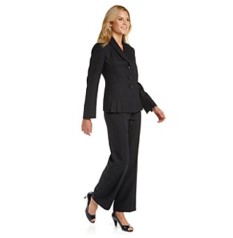 Le Suit® Plus Size Tweed Accordion-Jacket Pantsuit