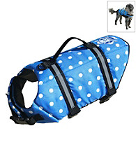Paws Aboard Designer Blue Polka Dot Doggy Life Jacket