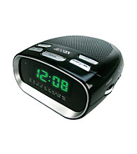 Jensen Phone Charging Dual Alarm Clock Radio