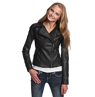 Jenna Ushkowitz Collection for Wallflower Juniors' Moto Jacket