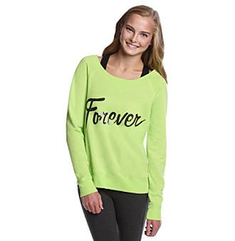"""Grane® Juniors' """"Forever"""" Bling Tissue Fleece"""