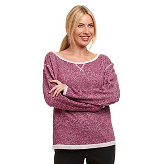 Relativity® French Terry Marled Pullover Top