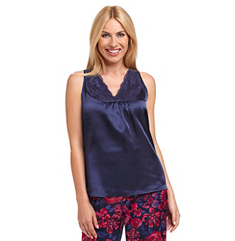 Chanteuse® Sleeveless Satin Top - Midnight Navy