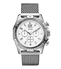 Guess Silver Boldly Detailed Sports Chronograph Watch