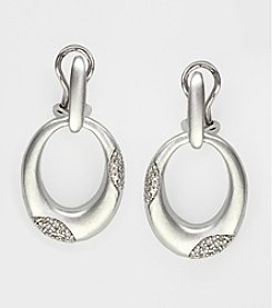 Effy® Sterling Silver and Diamond Earrings