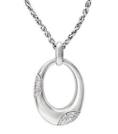 Effy® Sterling Silver and .29 Ct. T.W. Diamond Necklace