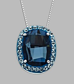 Impressions® Blue Crystal Pendant in Sterling Silver