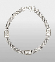 Sterling Silver and Diamond Accent Bracelet