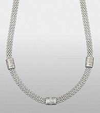 Sterling Silver and Diamond Accent Necklace