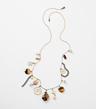 Laura Ashley® Hematite/Goldtone Semi Precious Tiger Eye Strand Necklace