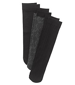 Relativity® Python Trouser Socks Three-Pack