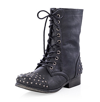 "Madden Girl ""Gewelz"" Studded Combat Boot - Black"