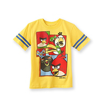 Angry Birds™ Boys' 8-20 Yellow Short-sleeve Block Tee