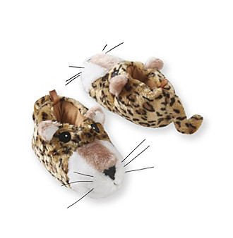 Miss Attitude Girls' Leopard Slippers