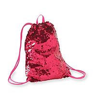 Miss Attitude Sequined Drawstring Bag