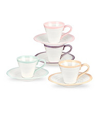 Sophie Conran for Portmeirion® Carnivale Set of 4 Assorted Espresso Cups and Saucers