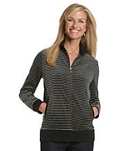 Breckenridge® Petites' Striped Velour Jacket