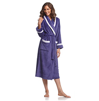 Jasmine Rose® Microfleece Wrap Robe - Wisteria Purple