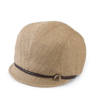 San Diego Hat Co.® Women's Natural Jute Jockey Cap