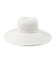San Diego Hat Co.® Women's Ribbon Braid Hat with Ticking