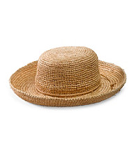 San Diego Hat Co.® Women's Natural Crocheted Raffia Hat